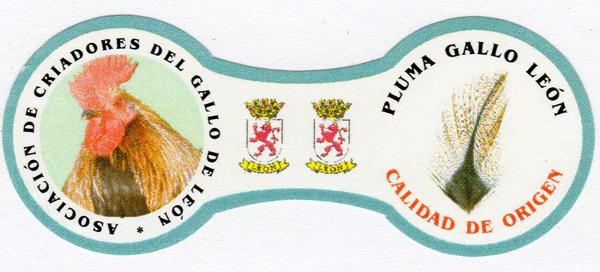 Etiqueta Plumas gallo Leon