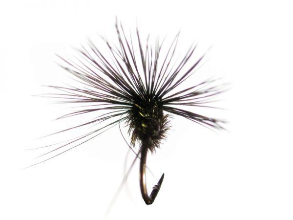 Mosca de León ahogada negro pavo real cm 1