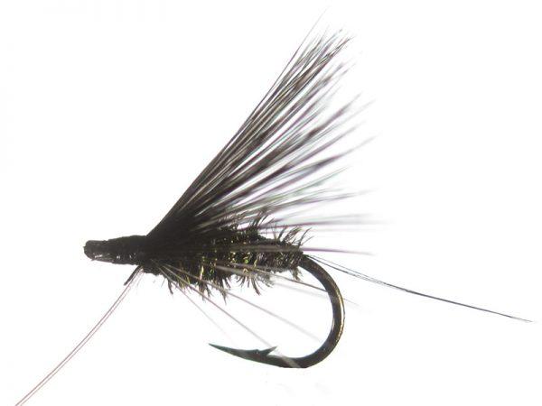 Mosca de León ahogada negro pavo real cm 2