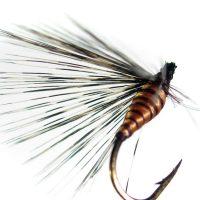 Mosca ahogada salmón oscuro pardo langareto