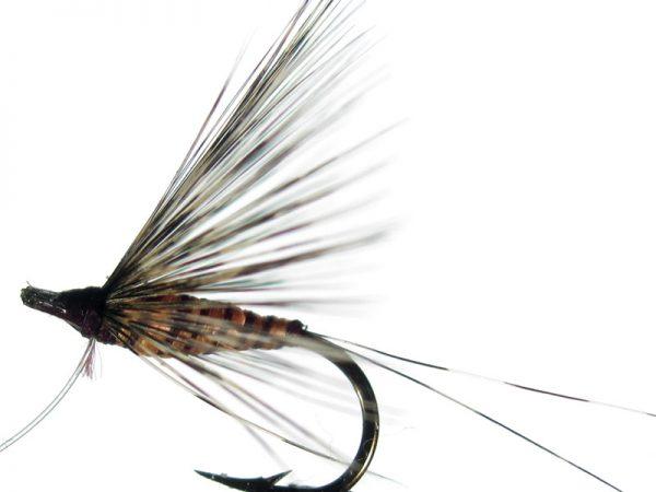 Mosca ahogada salmón pardo langareto cm 2