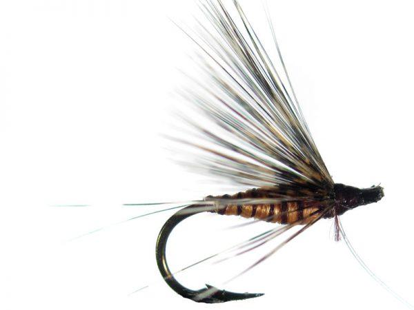 Mosca ahogada salmón pardo langareto cm 4