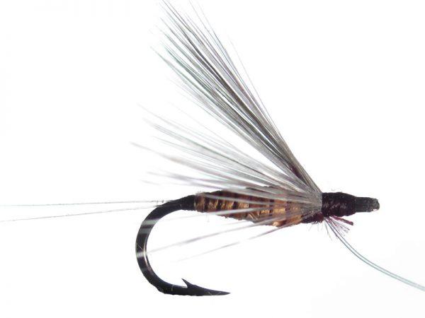 Mosca ahogada salmón oscuro indio claro cm 2