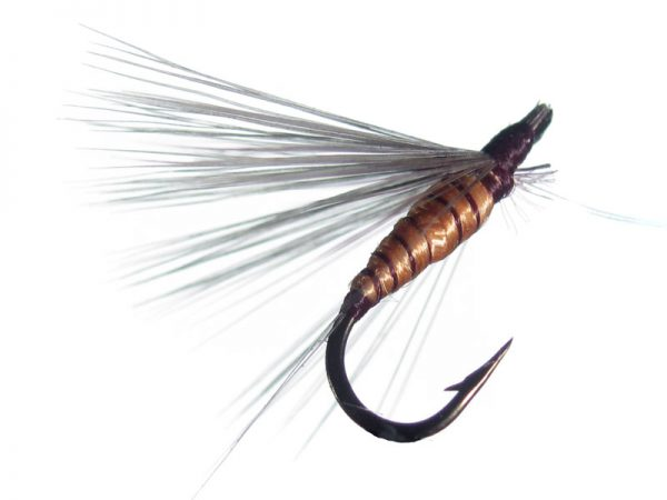 Mosca ahogada salmón oscuro indio claro cm