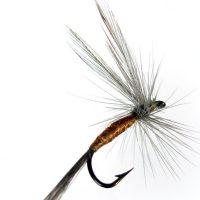 Mosca seca Efémera salmón indio acerado #72