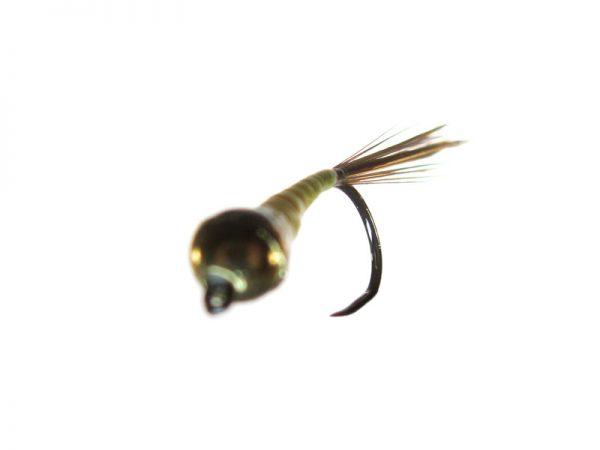 Ninfa perdigón cabeza dorada modelo 98 Amarillo fluor Indio sin muerte