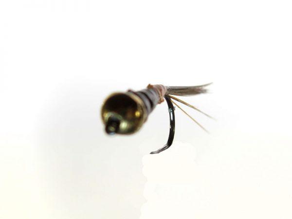 Ninfa perdigón cabeza dorada modelo 96 negra y marrón sin muerte