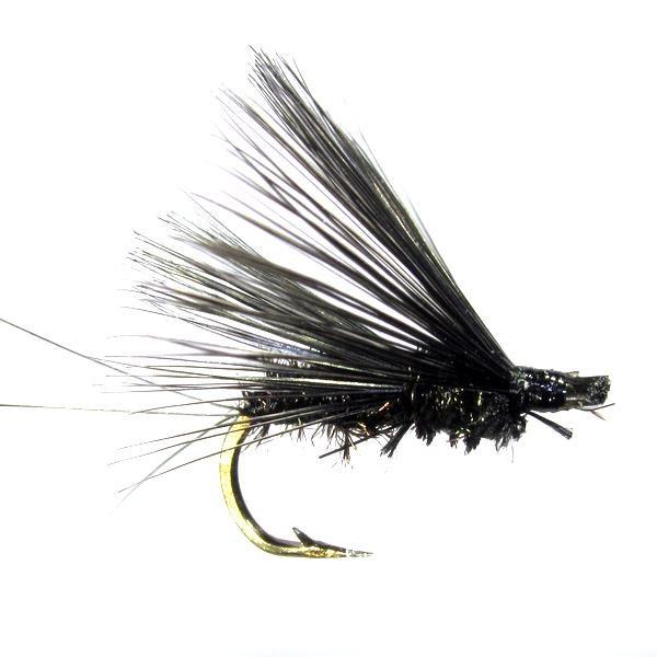 Saltona negra mosca ahogada de León pluma de gallo Indio