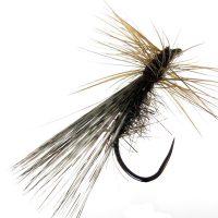 Tricóptero oreja liebre oscuro con pluma de gallo de León pardo flor de escoba modelo 13